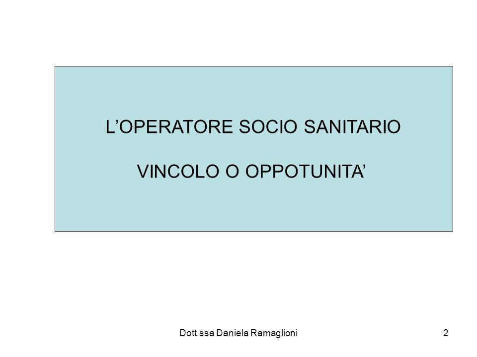 L'OPERATORE SOCIO SANITARIO VINCOLO O OPPOTUNITA'