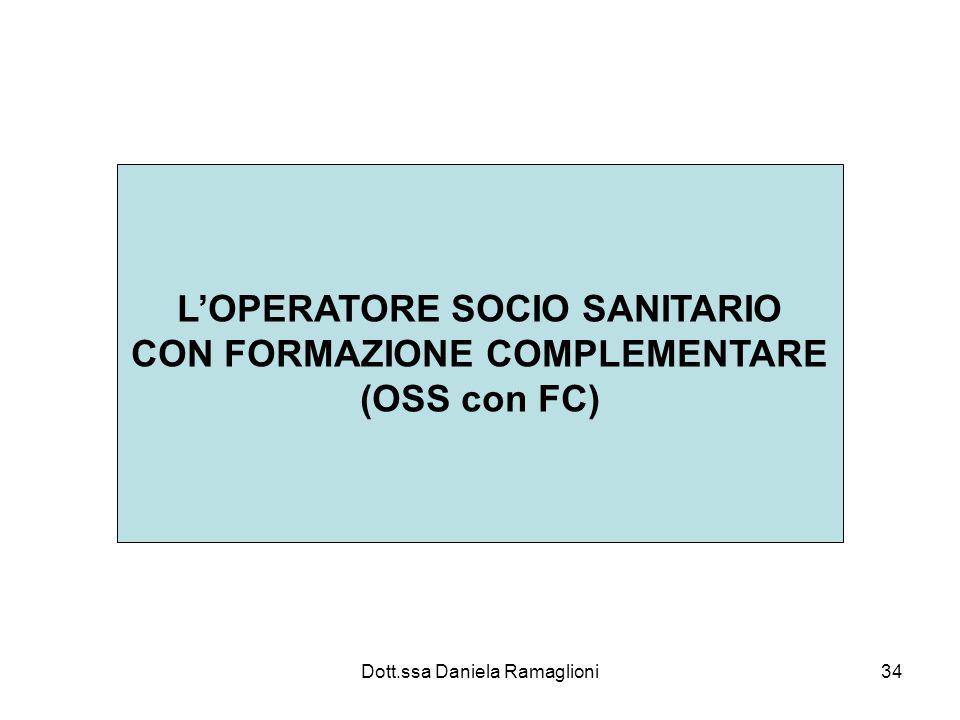 L'OPERATORE SOCIO SANITARIO CON FORMAZIONE COMPLEMENTARE