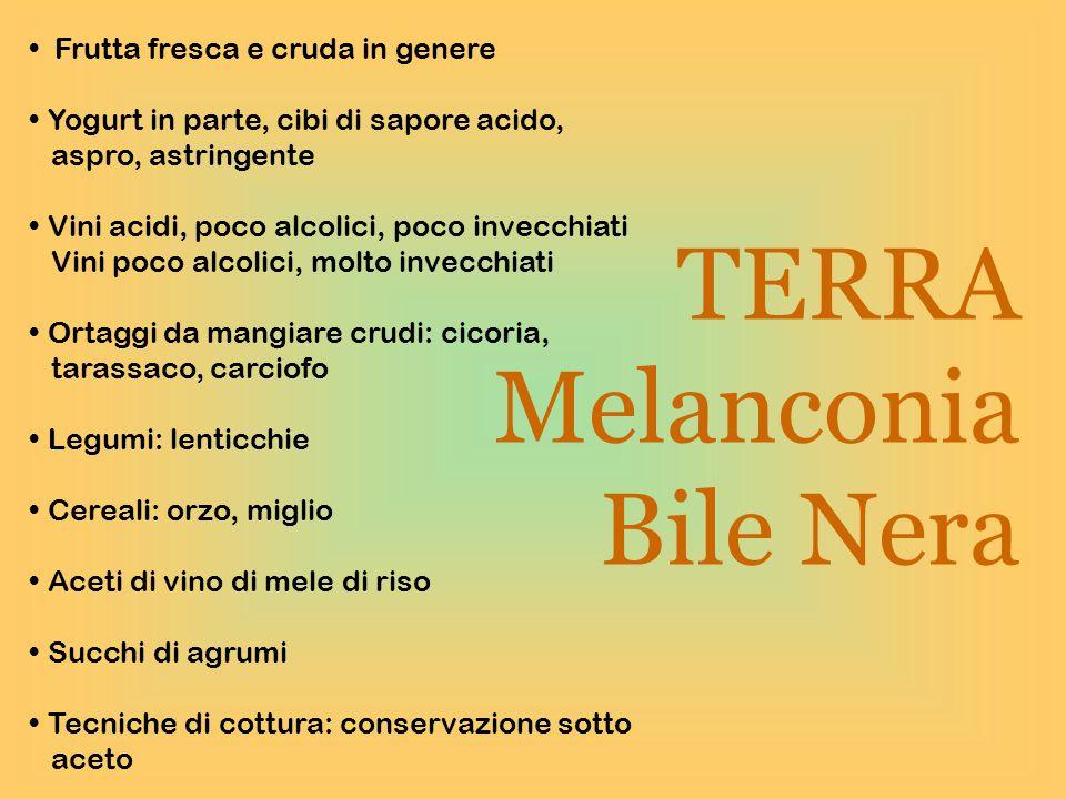 TERRA Melanconia Bile Nera Frutta fresca e cruda in genere