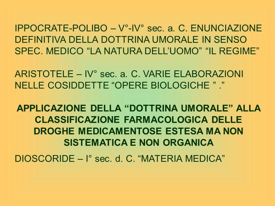 IPPOCRATE-POLIBO – V°-IV° sec. a. C
