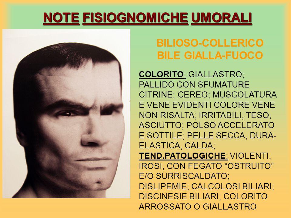 NOTE FISIOGNOMICHE UMORALI