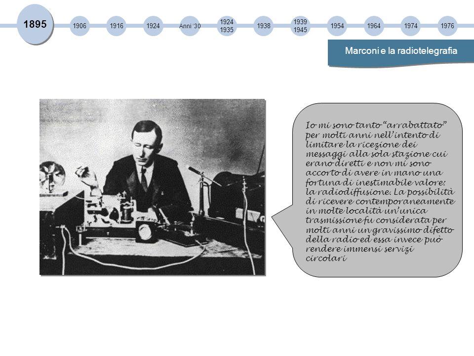 Marconi e la radiotelegrafia