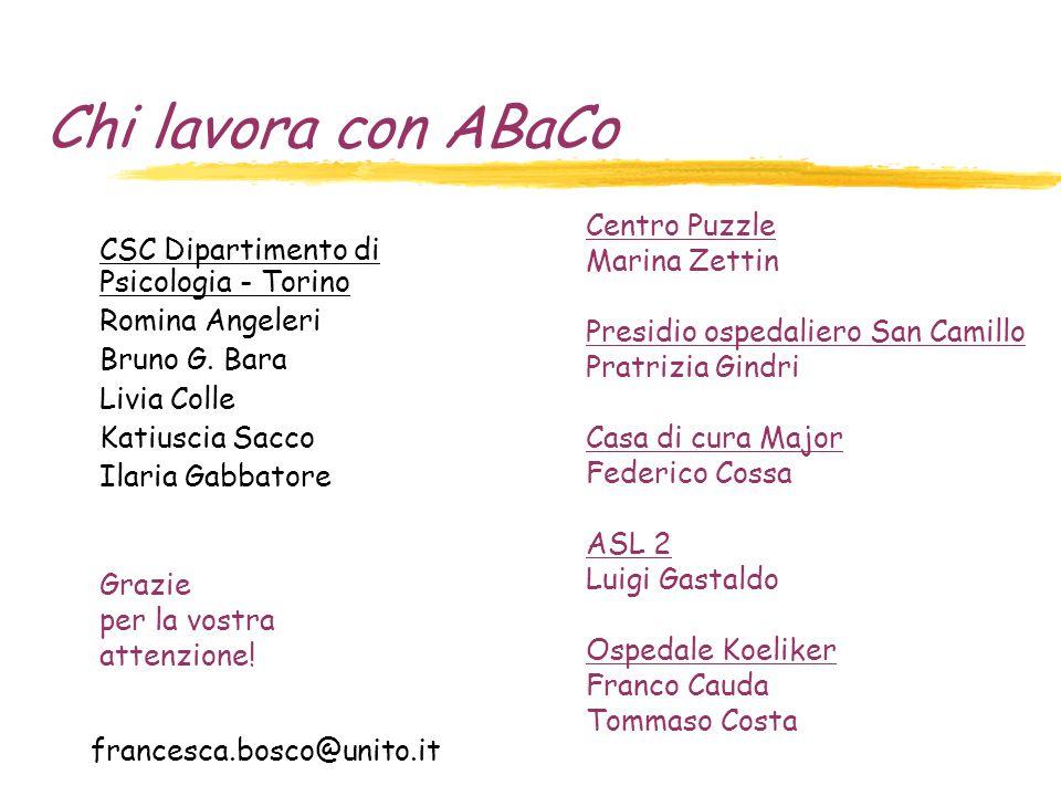Chi lavora con ABaCo Centro Puzzle Marina Zettin