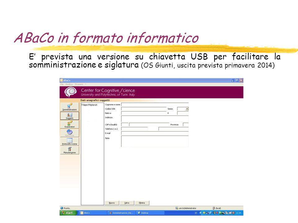 ABaCo in formato informatico