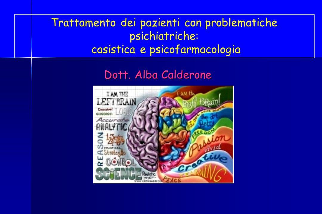 Trattamento dei pazienti con problematiche psichiatriche: