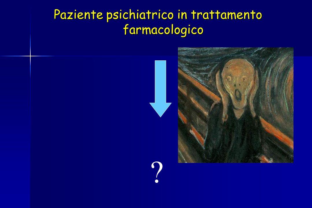 Paziente psichiatrico in trattamento farmacologico