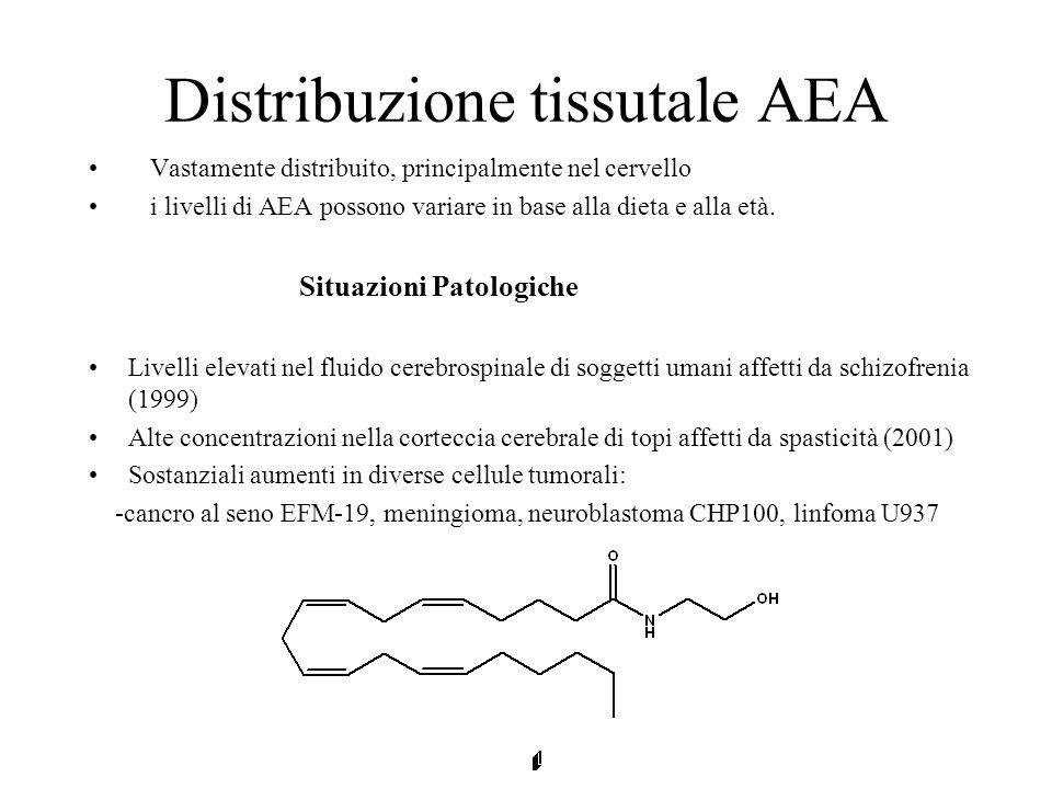 Distribuzione tissutale AEA
