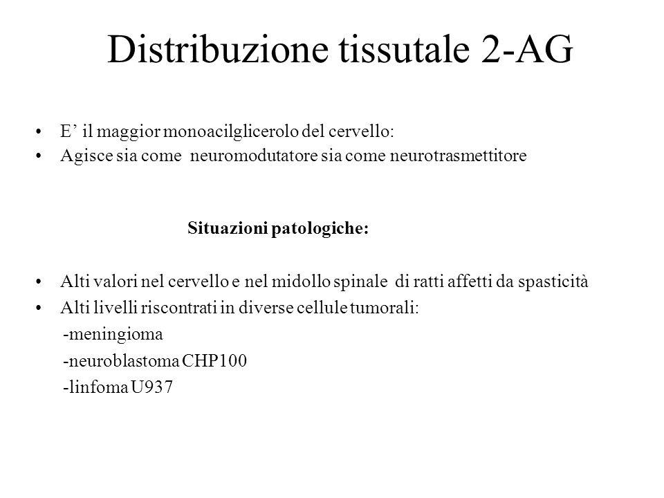 Distribuzione tissutale 2-AG