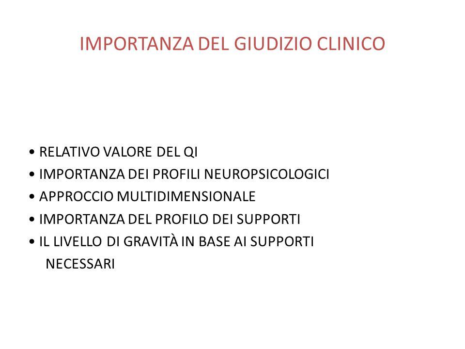 IMPORTANZA DEL GIUDIZIO CLINICO