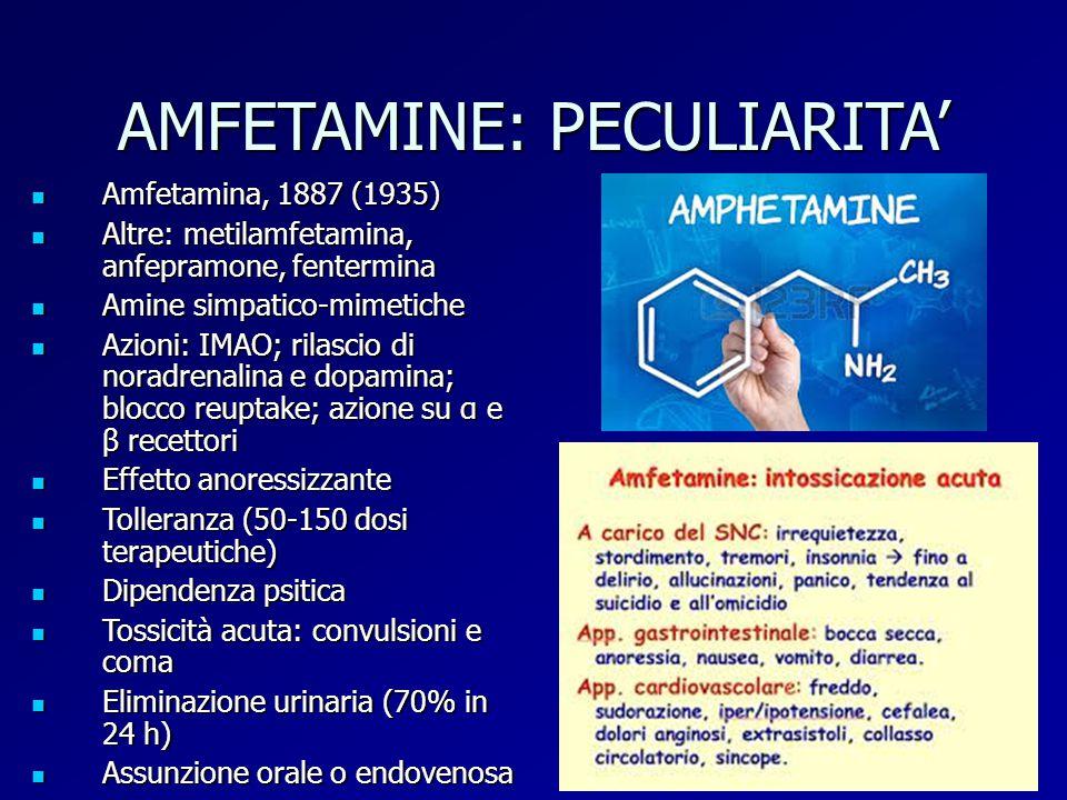 AMFETAMINE: PECULIARITA'