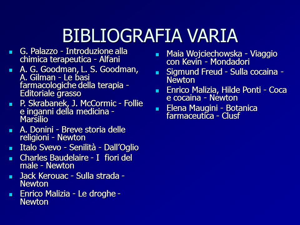 BIBLIOGRAFIA VARIA G. Palazzo - Introduzione alla chimica terapeutica - Alfani.