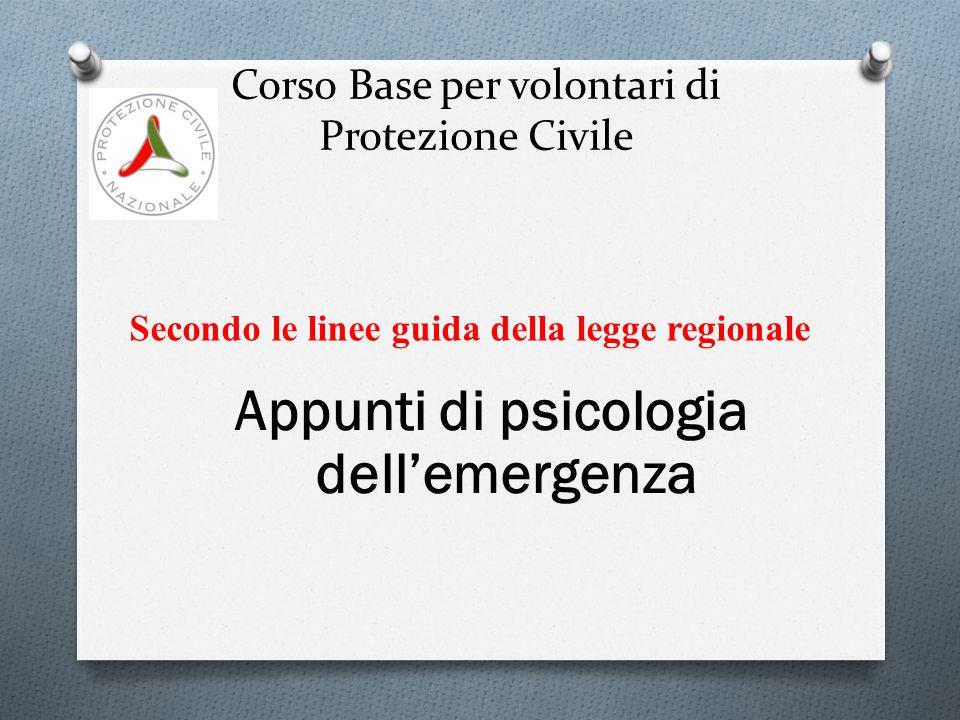 Corso Base per volontari di Protezione Civile