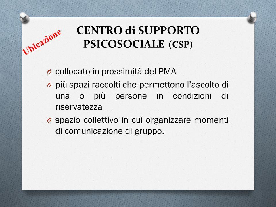 CENTRO di SUPPORTO PSICOSOCIALE (CSP)