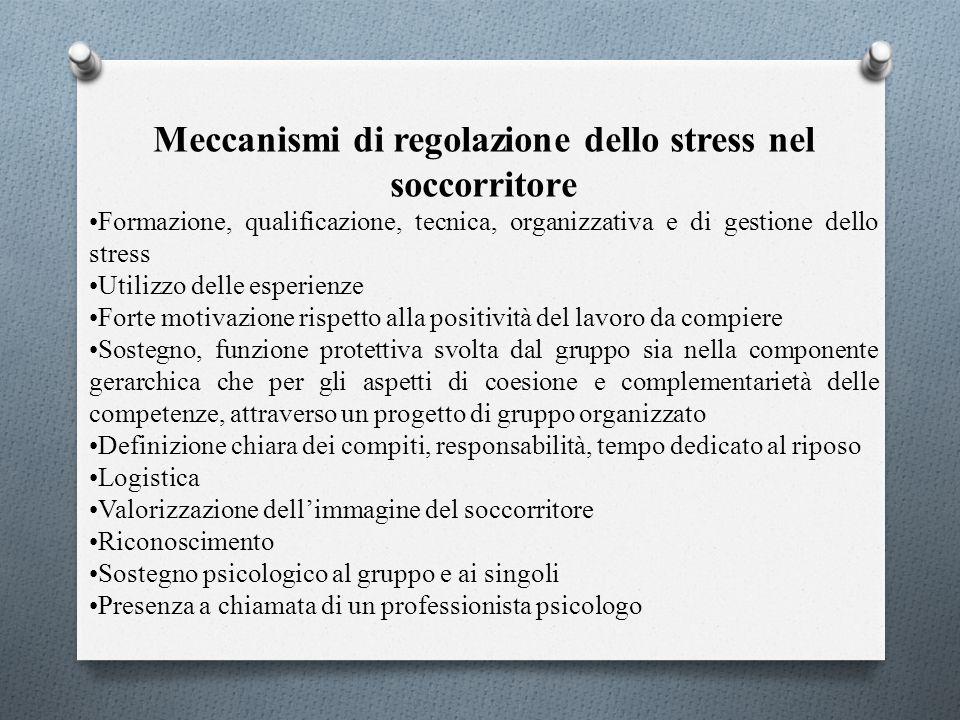 Meccanismi di regolazione dello stress nel soccorritore