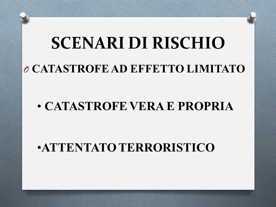 SCENARI DI RISCHIO CATASTROFE VERA E PROPRIA ATTENTATO TERRORISTICO