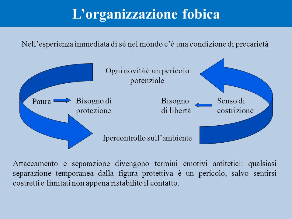 L'organizzazione fobica