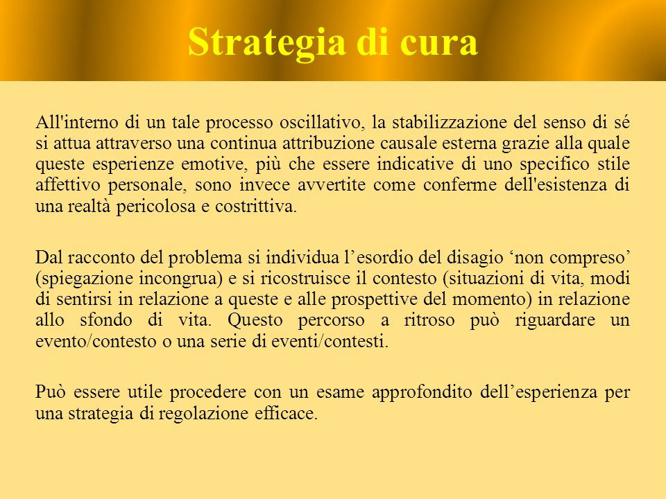 Strategia di cura