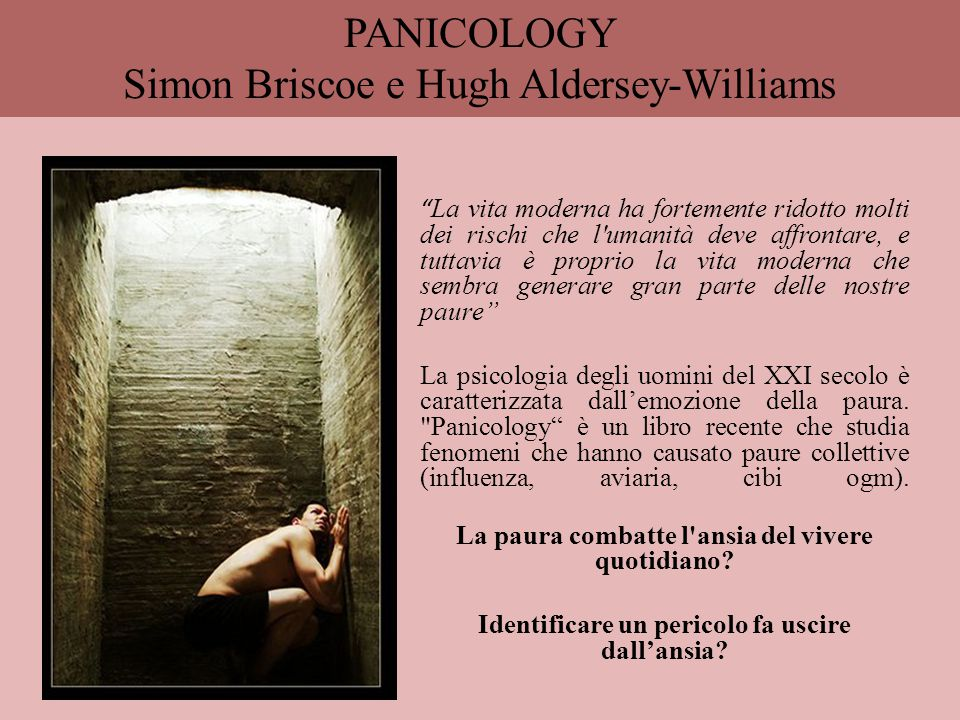 PANICOLOGY Simon Briscoe e Hugh Aldersey-Williams