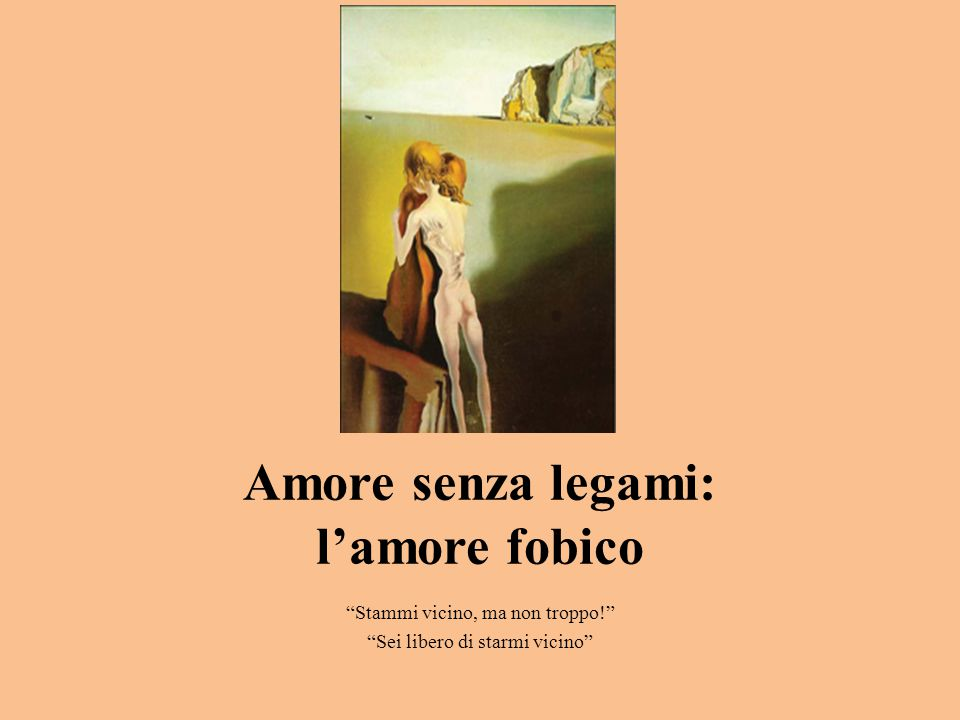 Amore senza legami: l'amore fobico