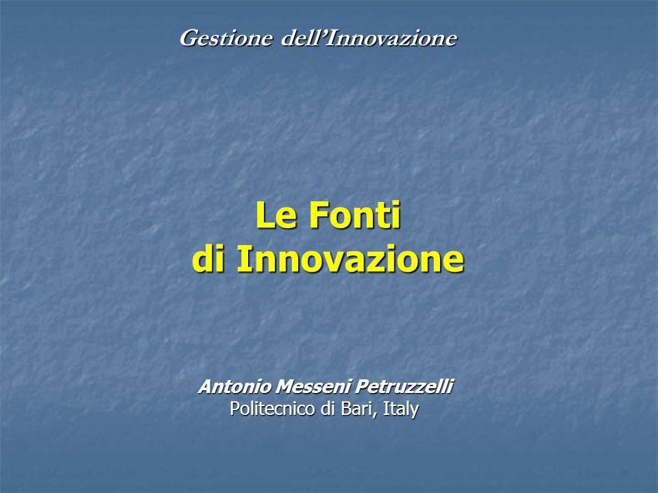 Le Fonti di Innovazione