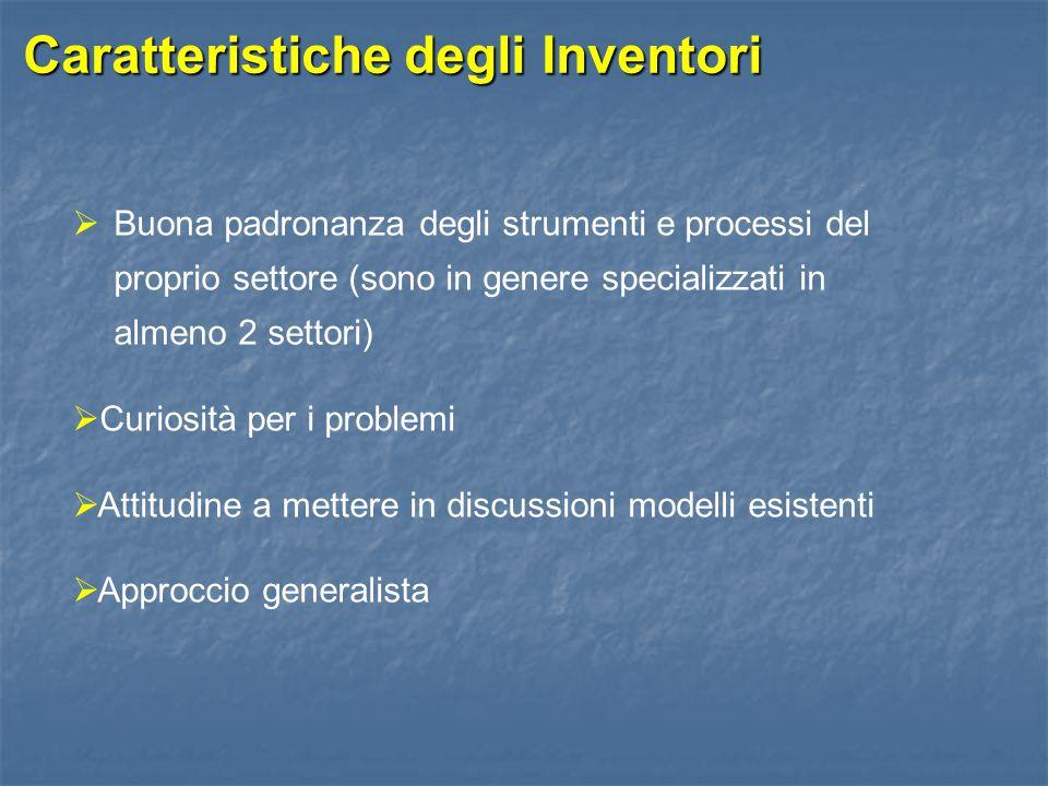 Caratteristiche degli Inventori