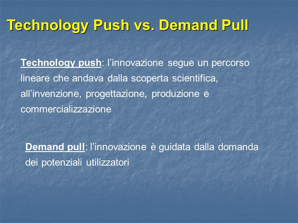 Technology Push vs. Demand Pull
