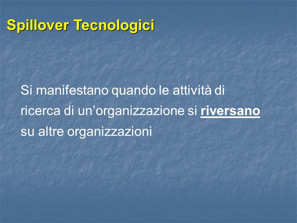 Spillover Tecnologici