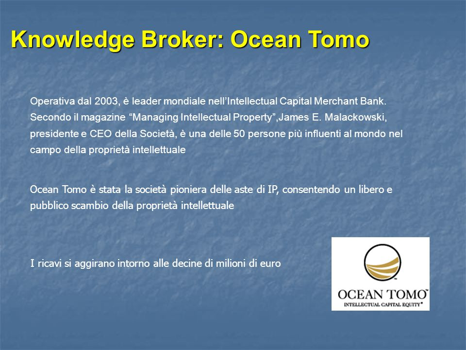 Knowledge Broker: Ocean Tomo