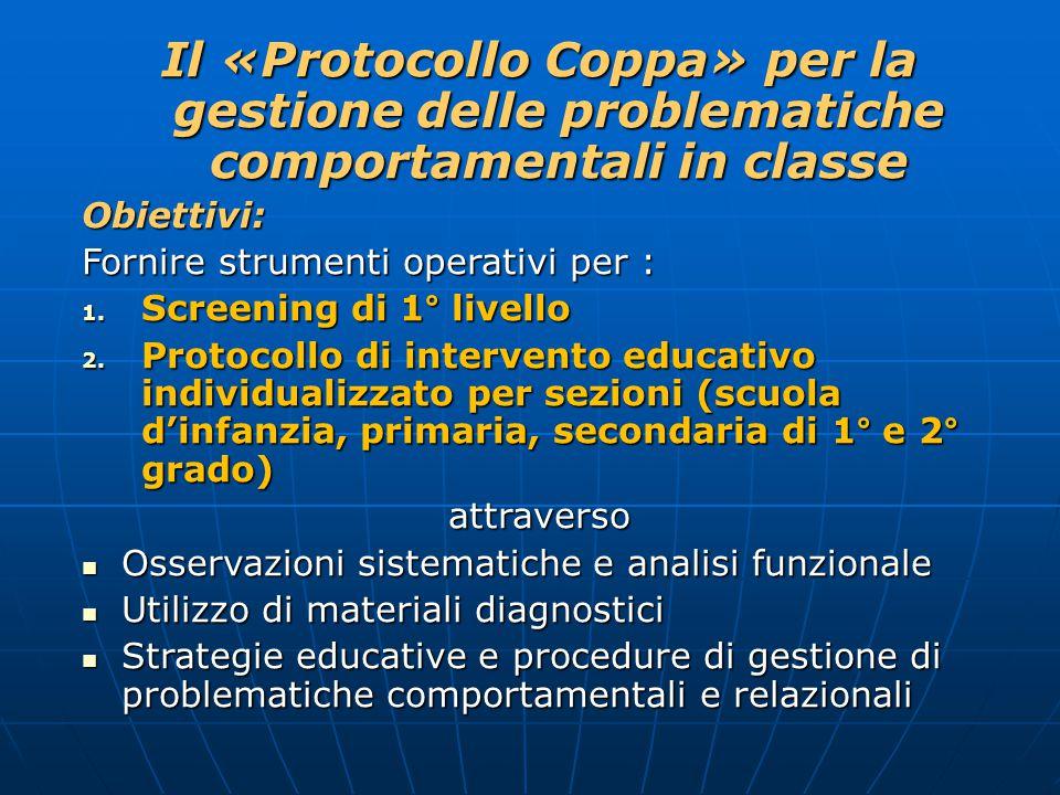 Il «Protocollo Coppa» per la gestione delle problematiche comportamentali in classe