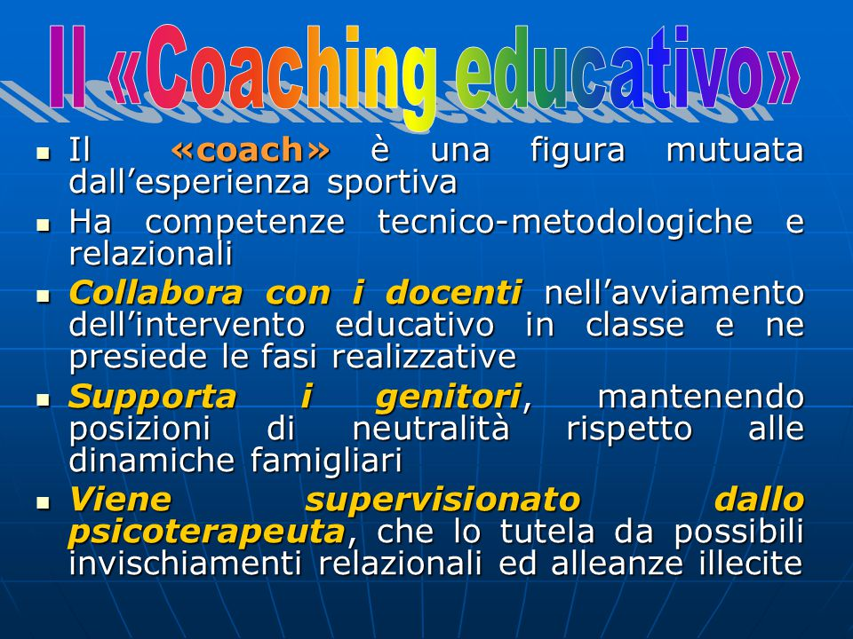 Il «Coaching educativo»