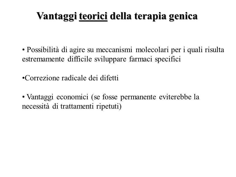 Vantaggi teorici della terapia genica