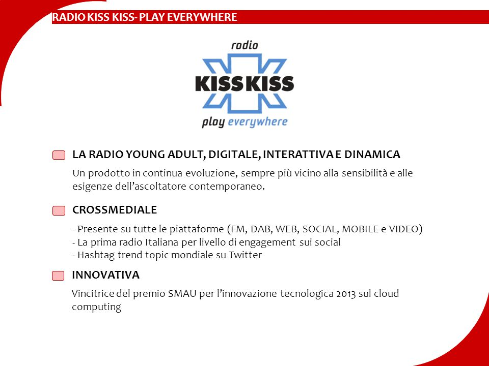LA RADIO YOUNG ADULT, DIGITALE, INTERATTIVA E DINAMICA