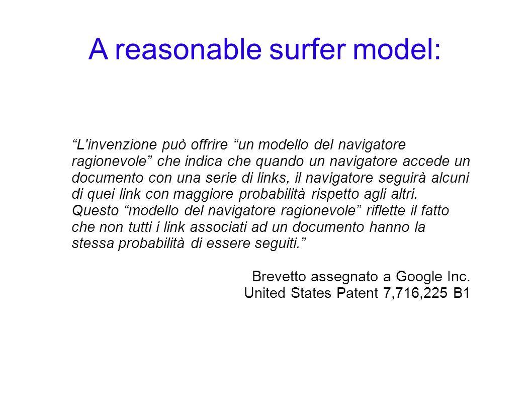 A reasonable surfer model: