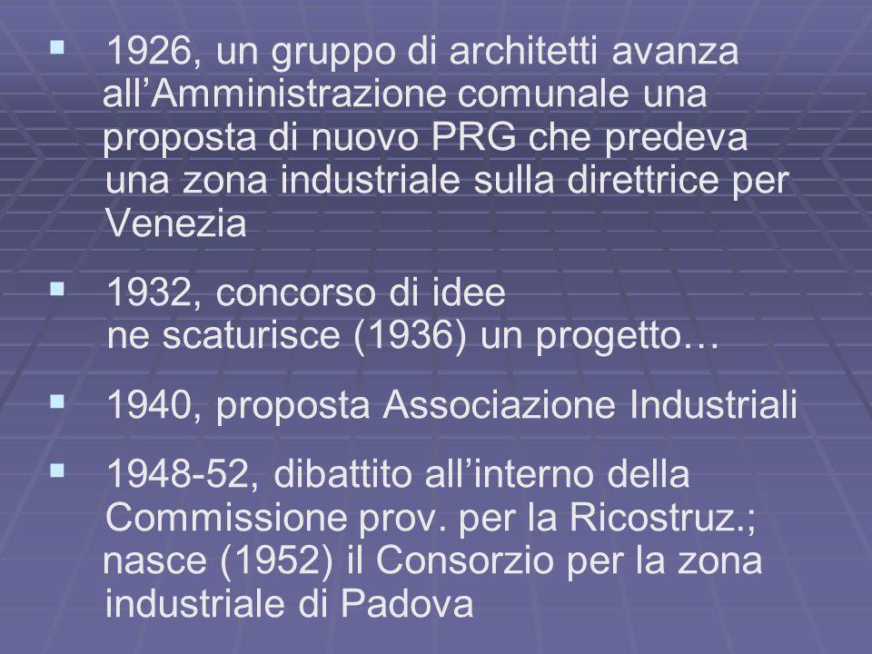 1926, un gruppo di architetti avanza all'Amministrazione comunale una