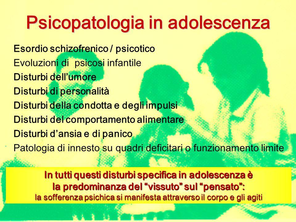 Psicopatologia in adolescenza