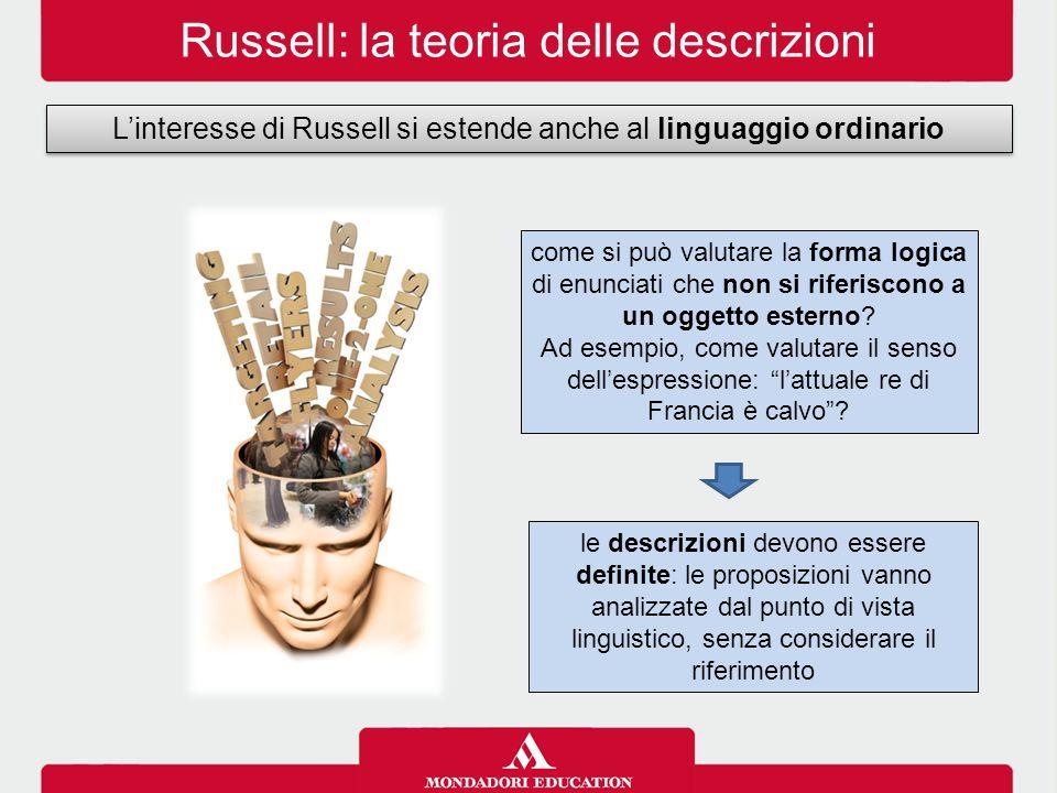 Russell: la teoria delle descrizioni