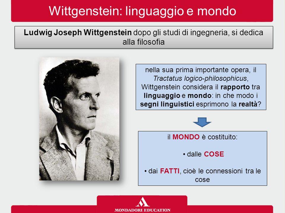 Wittgenstein: linguaggio e mondo