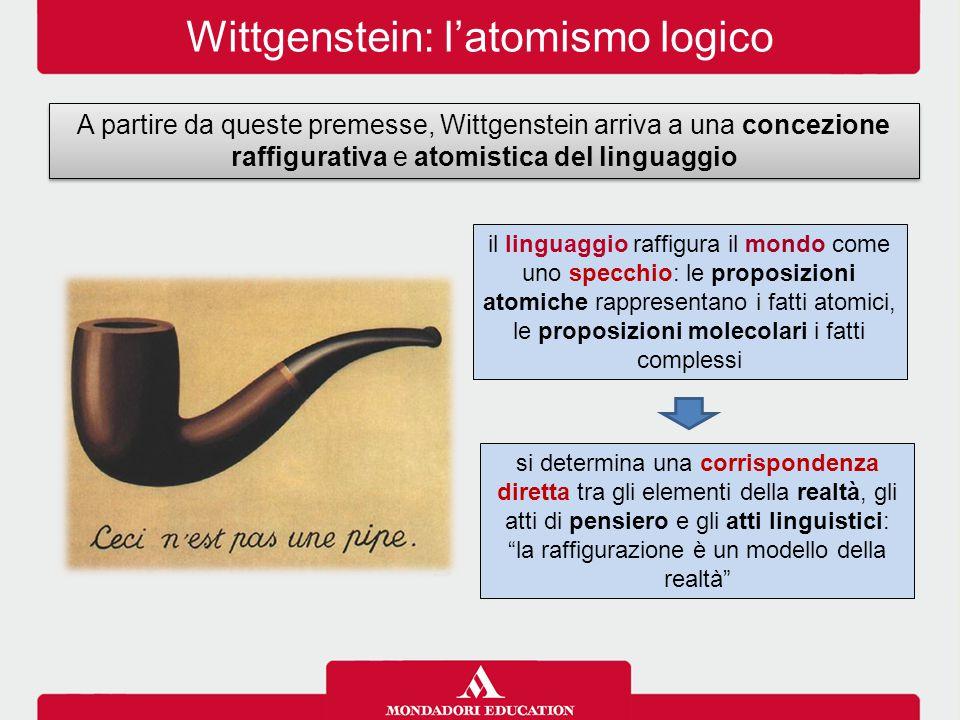 Wittgenstein: l'atomismo logico