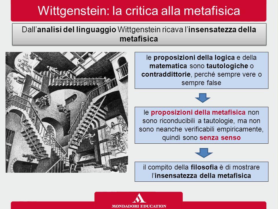 Wittgenstein: la critica alla metafisica