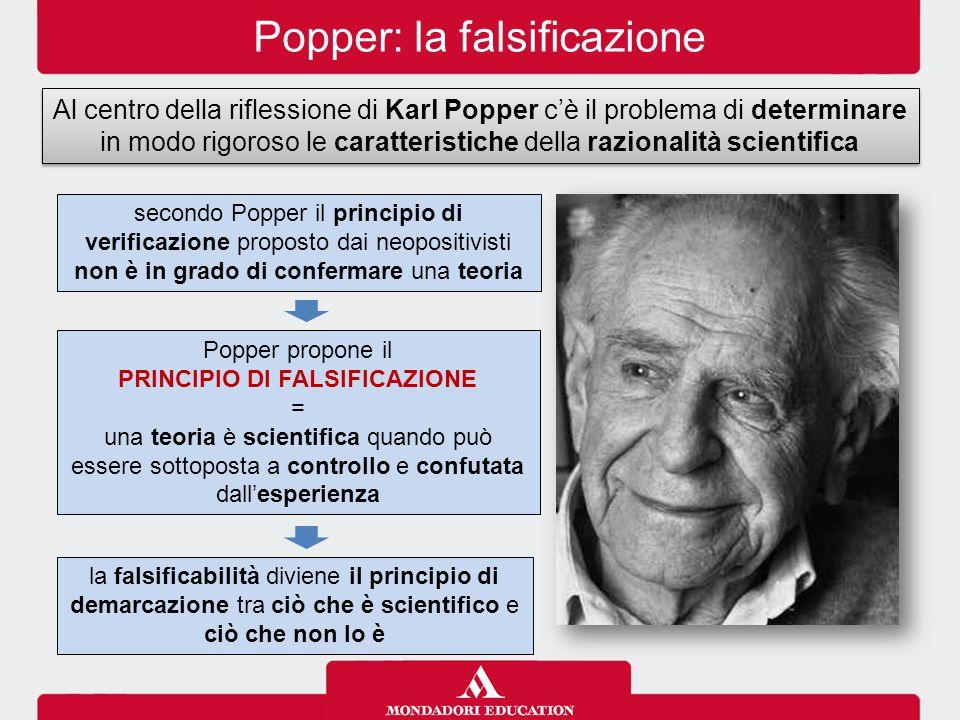 PRINCIPIO DI FALSIFICAZIONE