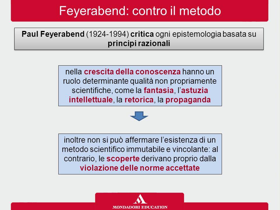 Feyerabend: contro il metodo
