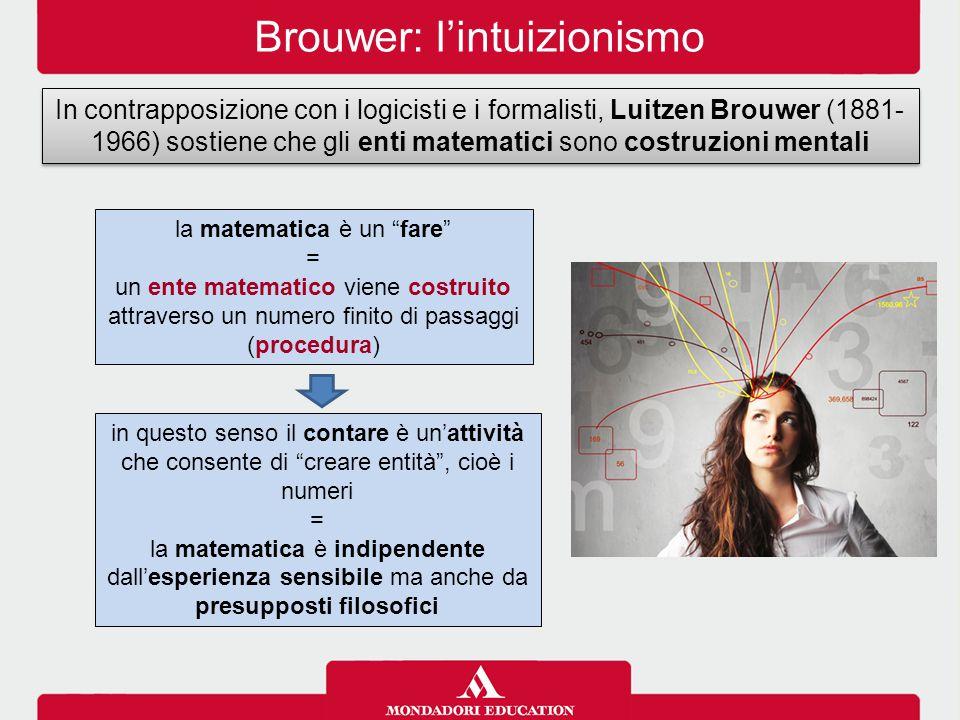 Brouwer: l'intuizionismo