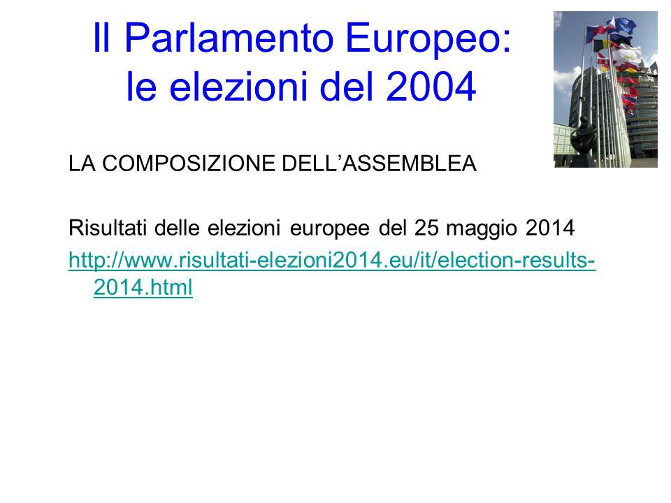 Il Parlamento Europeo: le elezioni del 2004