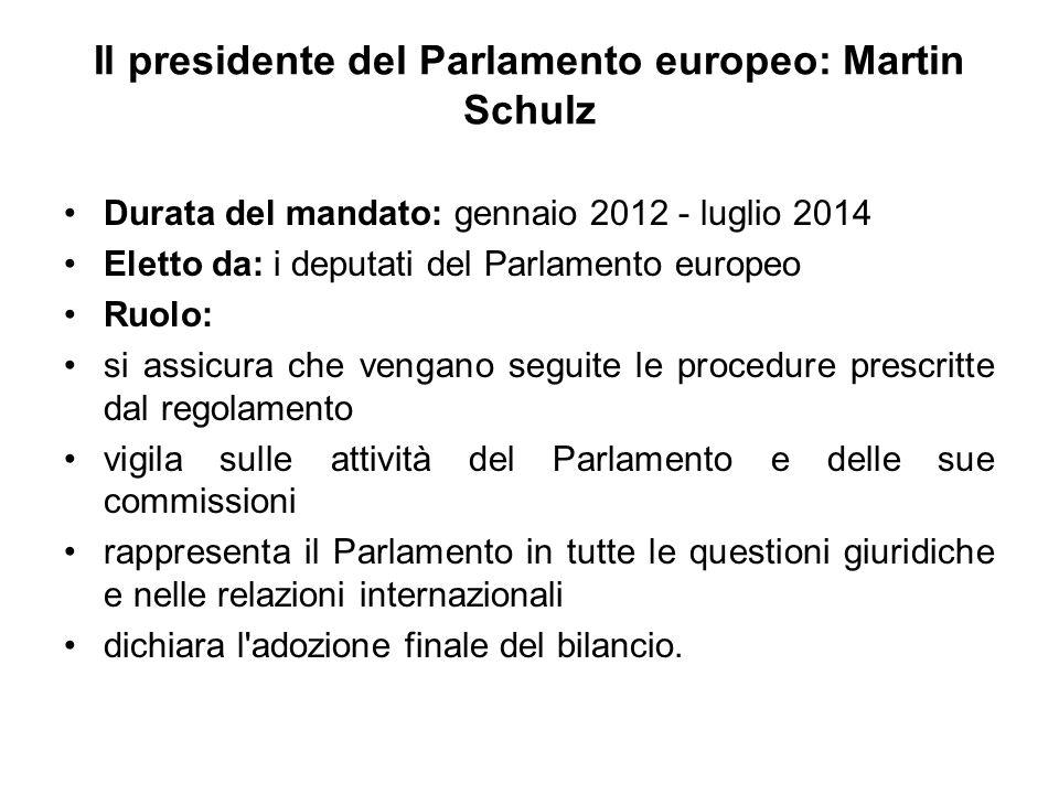 Il presidente del Parlamento europeo: Martin Schulz