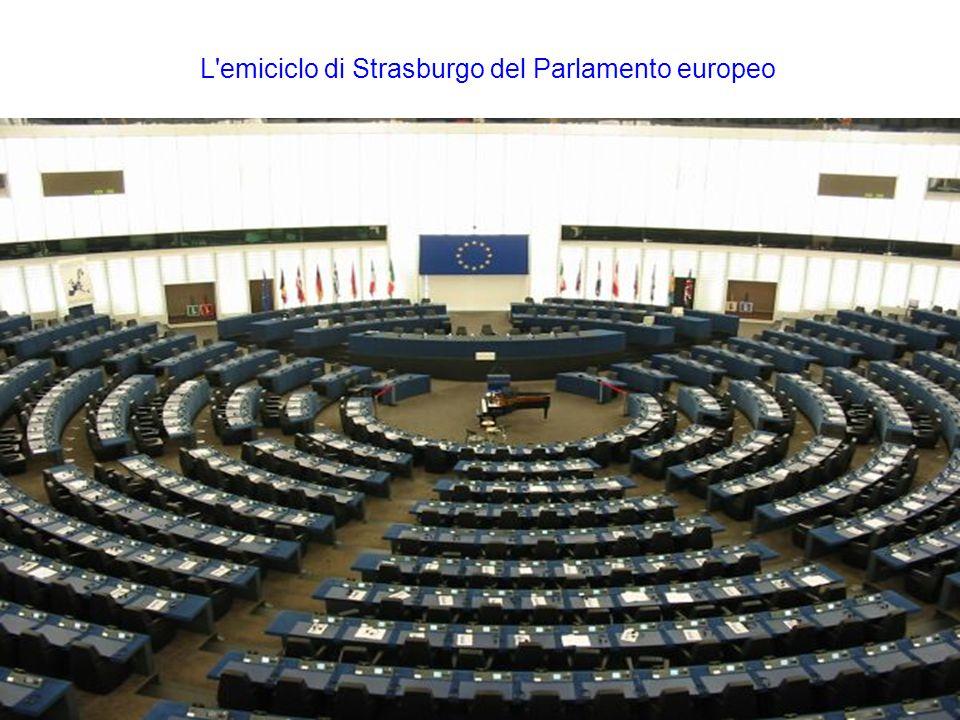 L emiciclo di Strasburgo del Parlamento europeo