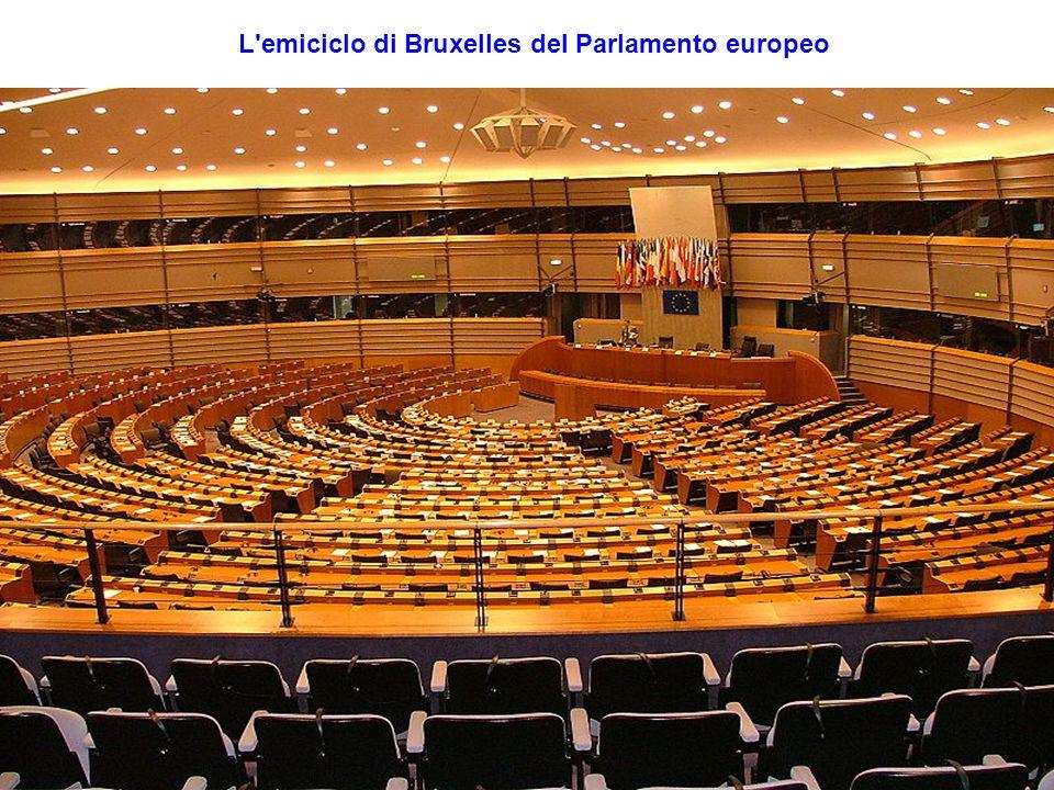 L emiciclo di Bruxelles del Parlamento europeo