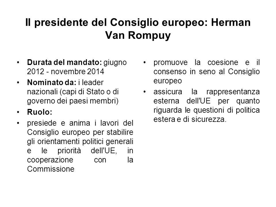 Il presidente del Consiglio europeo: Herman Van Rompuy