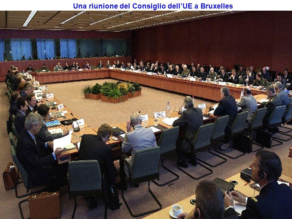 Una riunione del Consiglio dell'UE a Bruxelles