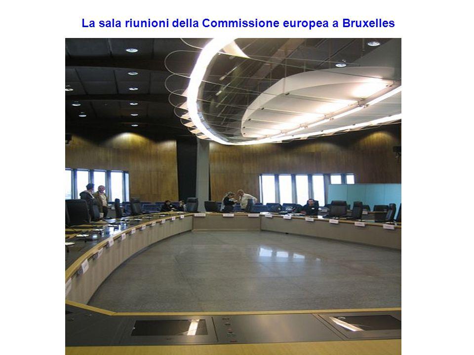 La sala riunioni della Commissione europea a Bruxelles