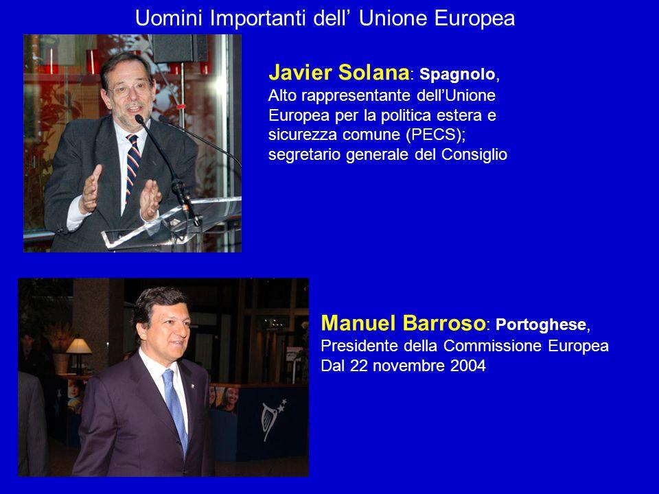Uomini Importanti dell' Unione Europea